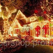 Новогодняя светодиодная гирлянда 200 диодов мульти 000514 фото