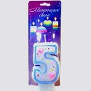 Свечи цифры для торта: 5 мигающая хамелеон фото