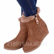 Ботинки Lady 256 бежевый скл фото