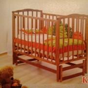 Кровать качалка с619 медовая фото