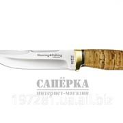 Нож охотничий Grandway, рукоять - береста, алюминий фото