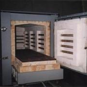 Печь с выдвижным подом для обжига керамики фото