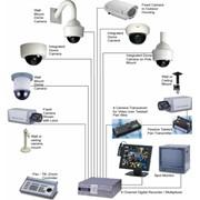 Установка видеонаблюдения и сигнализации фото