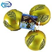 Набор шаров новогодний 3 шт, 6 см,матовые,посыпка,Winter Wings,06003. фото