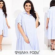 Платье женское свободного кроя (3 цвета) PY/-1019 - Голубой фото