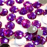 Пришивные акриловые стразы. Purple 10mm. (10шт) фото