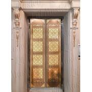 Разработка дизайна для стен кабины лифта из металла фото