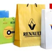 Пакет из бумаги, пакет бумажный с логотипом фото