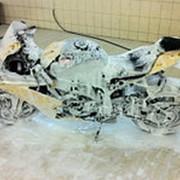 Мойка мотоцикла фото