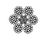 Канат стальной двойной свивки типа ЛК-З конструкции 6x25(1+6; 6+12)+7x7(1+6), диаметр 7.8-47.0 мм. фото