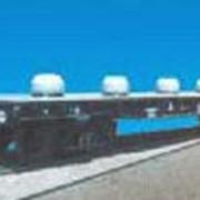 Вагон-платформа с несъемным оборудованием для перевозки стали в рулонах модель 13-4012-12 фото