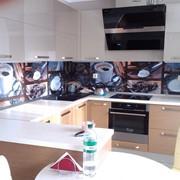 Изготовление, доставка и установка стеклянных панелей(фартуков) с фотопечатью. фото