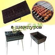 Складной мангал чемодан /8 шампуров/ фото