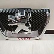 Эмблема на передний бампер Peugeot 407, 207, 307 фото