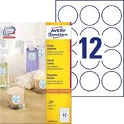 Этикетки Avery Zweckform для маркировки, круглые, d 60 мм, I-J+L+K+CL, белые, 1200 шт, 100 листов Белый фото