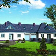 Проект дома для двух семей AS-474, дом коттеджный фото