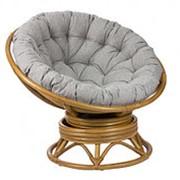 Кресло-качалка Pretoria мед (115х115х90см) с подушкой фото