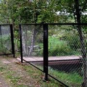 Ворота и калитки с заполнением рабицей фото