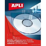 Самоклеящийся Карман APLI Для Cd, Неудаляемый, Прозрачные, 126Х126мм 6 шт/уп фото