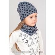 Детский комплект шапка + баф 4 фото