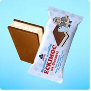 Мороженое в брикете Эскимос на бисквите фото