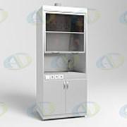 Шкаф вытяжной ШВ-01-МСК с тумбой и подводом воды, столешница нерж. сталь (эконом) фото