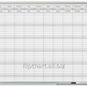 Доска годовой планер в раме ALU23 анод 90x60 см 2x3 (Польша) TP005 фото