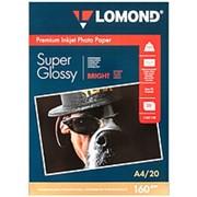 Фотобумага струйная A4 Lomond Super Glossy суперглянец 160г-20листов фото
