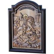 Резная икона Св.Георгий Победоносец фото
