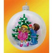 Новогодние шары M-013-206-Дети-и-елка фото