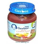 Пюре Gerber 130г яблоко, лесные ягоды с 4мес фото