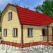 Мансардный дом из профилированного бруса с крыльцом 6Х9, проект № 9 фото