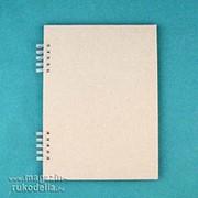 Заготовка для фотоальбома на пружине белой А5 (6 листов) фото