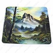 Коврик для мышки с горным пейзажем фото