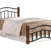 Кровать Берта односпальная каштан фото