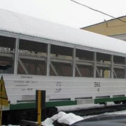Крытые двух ярусные вагоны автомобилевозы модель 11-853 под легковые автомобили фото