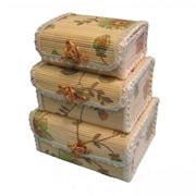 Шкатулка цветочная прямоугольная, бамбука (16*12*Н7), комп.-3 8616 46132-3 фото