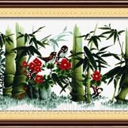 """Набор для вышивания """"Зеленый бамбук"""" 90612 фото"""