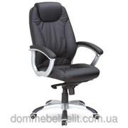 Кресло для руководителя Неон HB кожзам черный (J-9024 PU Black) фото