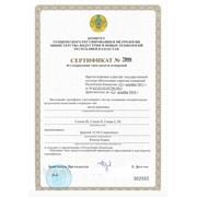 Сертификат на крановые весы CAS фото