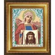 Икона ручной работы Святая Вероника вышитая бисером фото