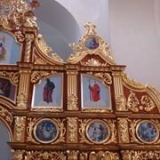 Золочение иконостасов, позолота поталью, сусальным золотом. фото