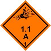 Знак класс опасности 1 Взрывчатые вещества и изделия фото