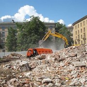 Утилизация строительного отхода фото