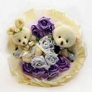 Букет из мягких игрушек Ванильная свадьба 2060 фото