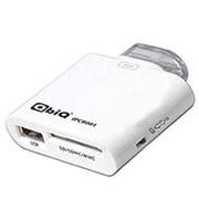 Считыватель карт памяти картридер для Apple 30pin QbiQ IPCR 001 SD, SDHC-MMC, порт USB Af - белый фото