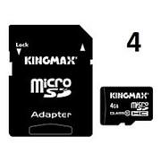 Карта памяти microSD 4Gb 10 class + переходник фото