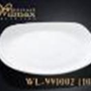 Тарелка обеденная квадратная 30.5 см фото