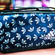 Спортивная дорожная наплечная сумка ADIDAS маленькая 37х20х22 см черная фото
