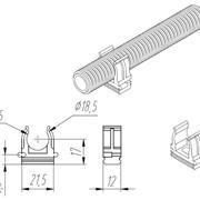 Клипса для крепления труб 16 мм фото